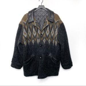 Hulda Vintage Icelandic Wool & Leather Jacket